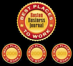 《波斯顿商业杂志》认可的最佳工作场所